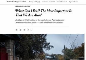 """В """"New York Times"""" опубликована статья о селе Чираглы Агдамского района"""