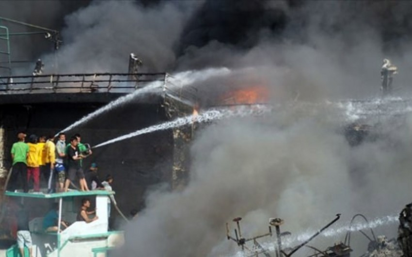 Indonesia matchstick warehouse fire, at least 30 killed