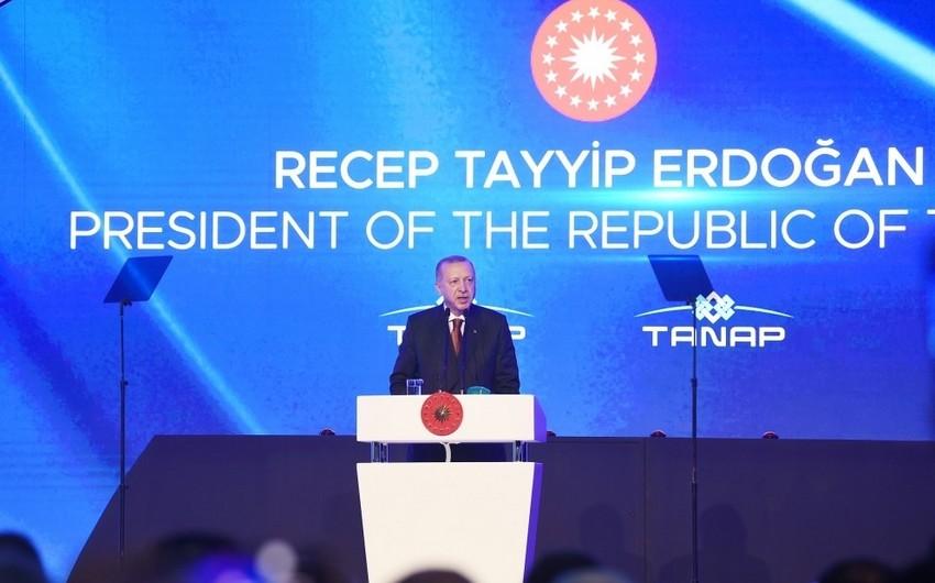 """Türkiyə Prezidenti: """"TANAP ölkələrimiz arasındakı köklü dostluğun simvoludur""""  - YENİLƏNİB-2"""