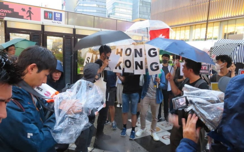 Protest action held against G20 summit in Osaka