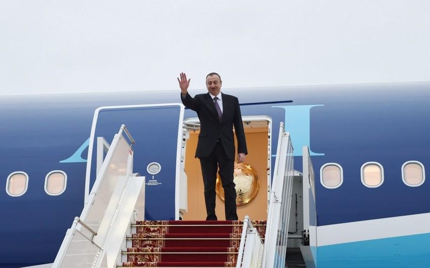 Azərbaycan prezidentinin Belarusa səfəri başa çatıb