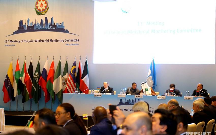 Bakıda OPEC+ ölkələri Nazirlərinin Birgə Monitorinq Komitəsinin iclası başlayıb