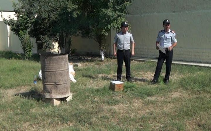 В Сальяне путем сожжения уничтожено свыше 7 кг наркотиков