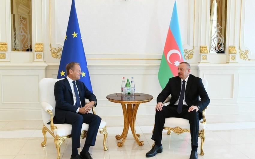 Prezident: Avropa İttifaqı ilə Azərbaycan arasında əlaqələr tərəfdaşlıq ruhu və qarşılıqlı dəstəyə əsaslanır