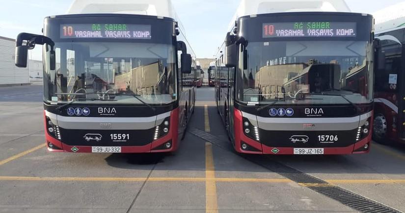 Bakıda daha bir xətt üzrə yeni avtobuslar istifadəyə verilir