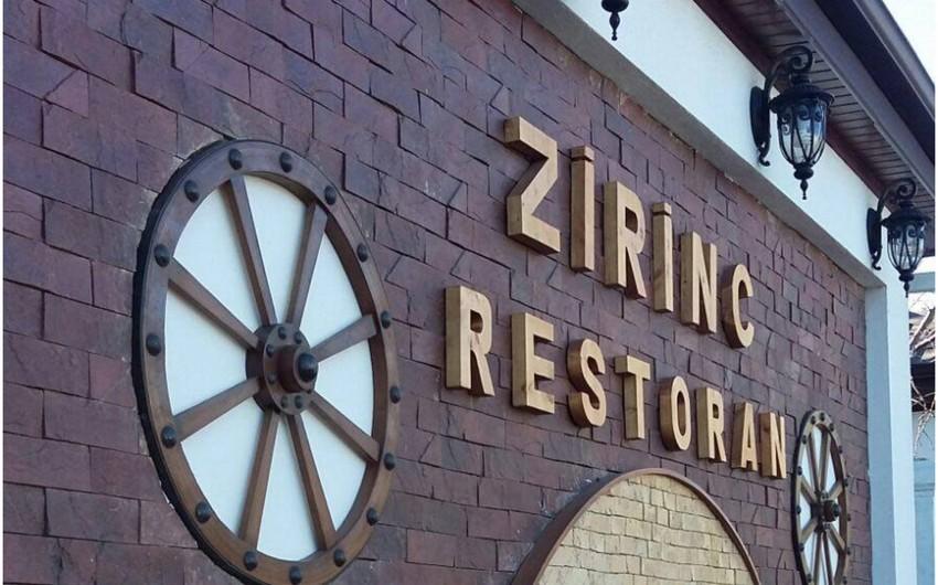 """""""Zirinc"""" restoranı cərimələndi - TAM SİYAHI"""