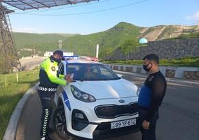 В Дашкесане водители оштрафованыза непристегнутый ремень безопасности