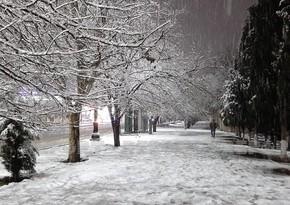 В Гяндже выпал снег
