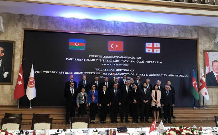 Ankarada Azərbaycan-Türkiyə-Gürcüstan parlamentlərinin xarici əlaqələr komitələrinin birgə iclası keçirilib