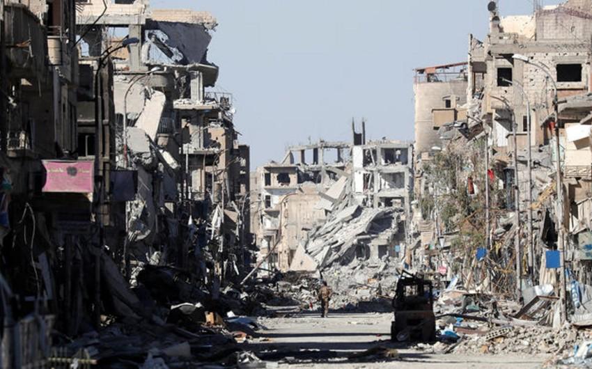Suriyanın Deyr ez-Zor vilayətində törədilmiş terror aktı nəticəsində onlarla insan həlak olub - VİDEO