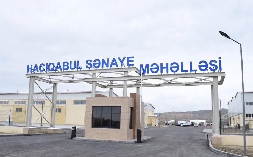 Hacıqabul Sənaye Məhəlləsində yeni rezidentlər fəaliyyətə başlaya bilər