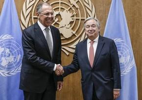 Состоялась встреча генсека ООН и главы МИД России