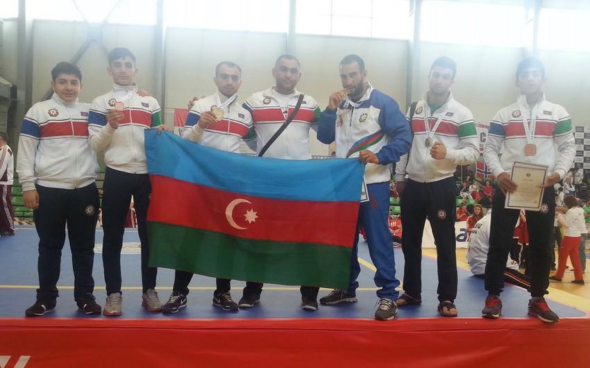 Azərbaycanın uşu üzrə milli komandası Avropa çempionatında 5 medal qazanıb