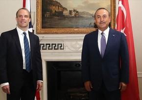 Çavuşoğlu, Raab hold phone conversation