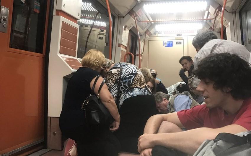 Madrid metrosunda atışma olub