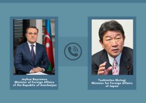 Azərbaycan və Yaponiya XİN başçıları arasında telefon danışığı olub