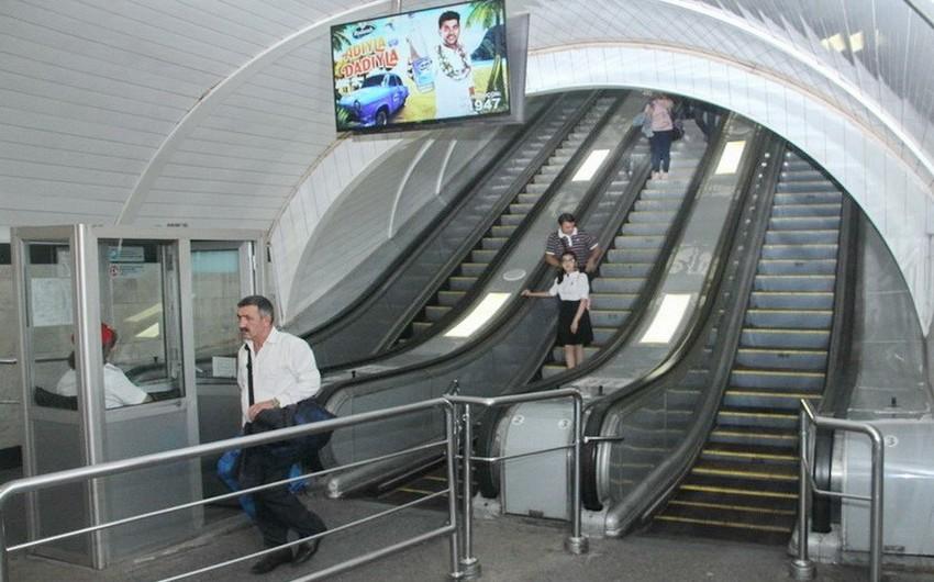 """Metronun """"Nizami"""" stansiyasında eskalatorun əsaslı təmiri başa çatıb"""