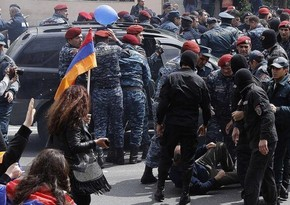Some protesters detained after clashes with police in Armenia's capital