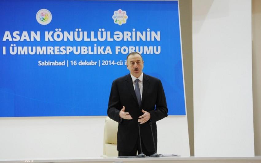 Президент Ильхам Алиев: Ни один человек в Азербайджане не почувствует падения цен на нефть