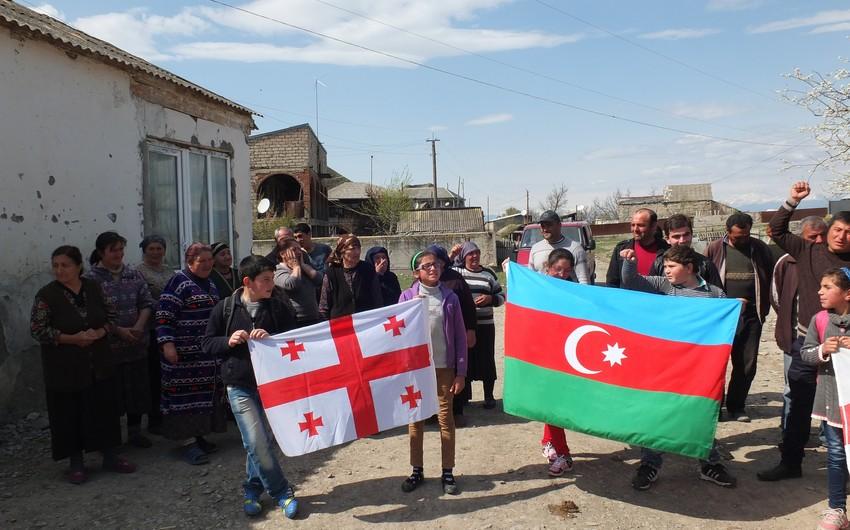 Gürcüstanın Qori rayonunda yaşayan azərbaycanlılar Qarabağa dəstək aksiyası keçirib