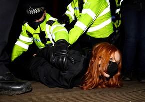 Londonda keçirilən etiraz aksiyasında 33 nəfər saxlanılıb