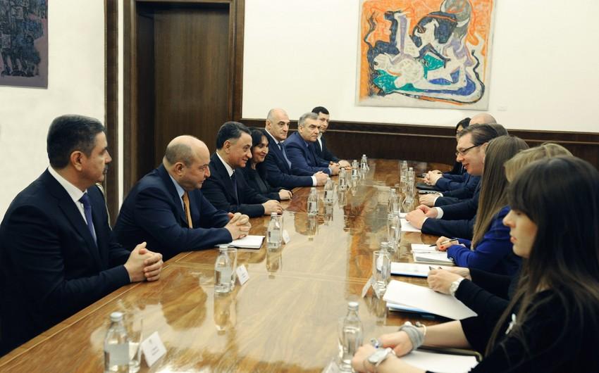 Ramil Usubov Serbiya Prezidenti ilə görüşüb