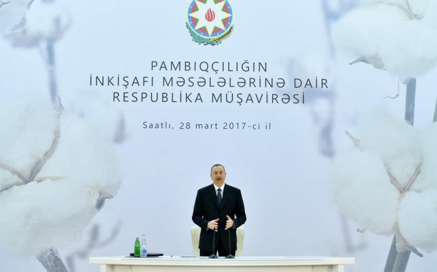 Prezident İlham Əliyev: Uğurlu iqtisadi siyasət, sabitlik, əmin-amanlıq nəticəsində Azərbaycanda əhali artır