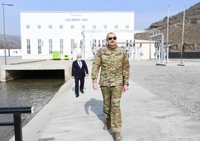 Ilham Aliyev: Power substation is being built in Shusha