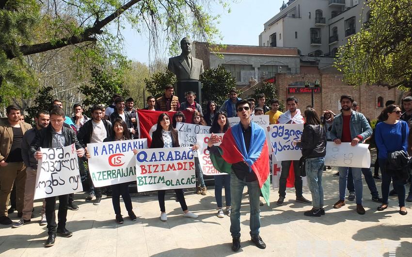 Gürcüstanda təhsil alan azərbaycanlı gənclər Azərbaycan uğrunda döyüşməyə hazırdır