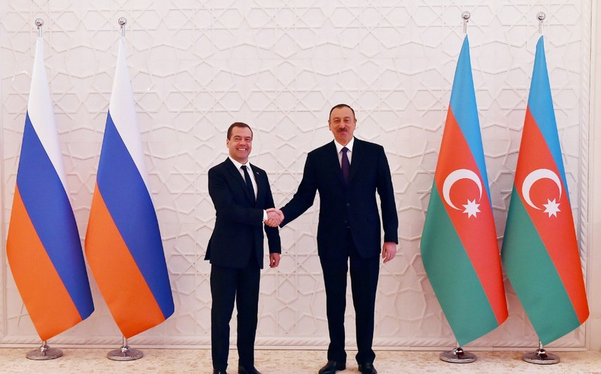 President Ilham Aliyev and Russian Prime Minister Dmitry Medvedev met in an expanded format