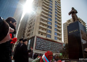 Azerbaijani people commemorate Khojaly victims - PHOTO
