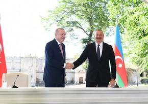 Ilham Aliyev says Azerbaijani-Turkish relations are at their highest peak