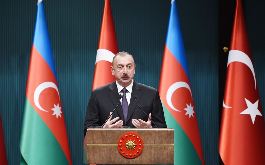 Prezident İlham Əliyev: Azərbaycan bütün beynəlxalq məsələlərdə Türkiyəni dəstəkləyir