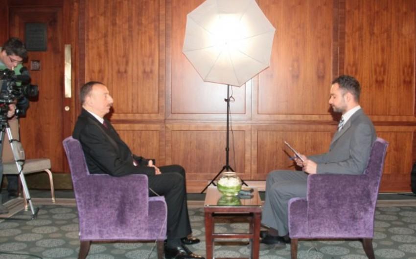 Prezident İlham Əliyev Macarıstan Milli Televiziyasına müsahibə verib