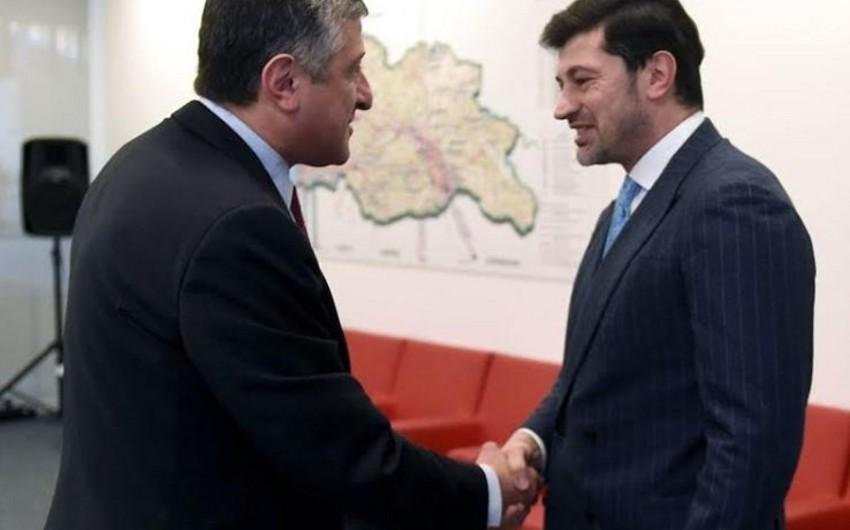 Azərbaycan səfiri Gürcüstan baş nazirinin müavini, energetika naziri Kaxa Kaladze ilə görüşüb