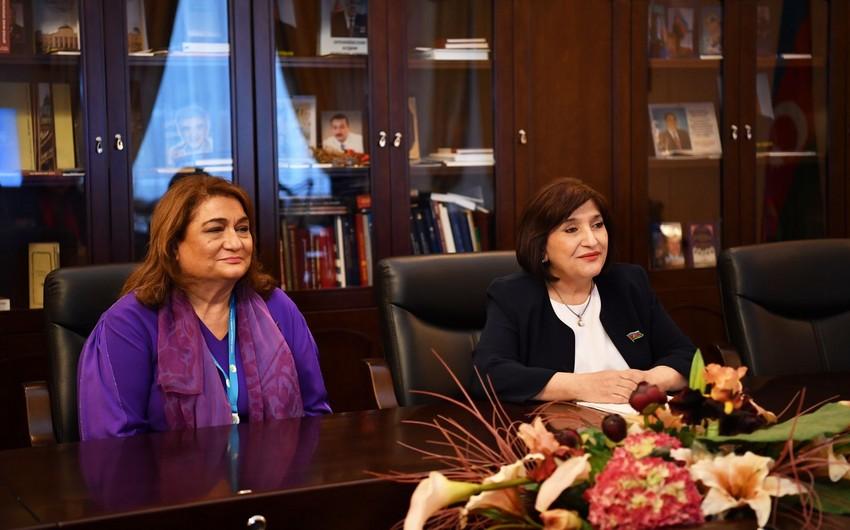 Sahibə Qafarova BMT rəsmisini münaqişədən sonrakı durumla bağlı məlumatlandırıb