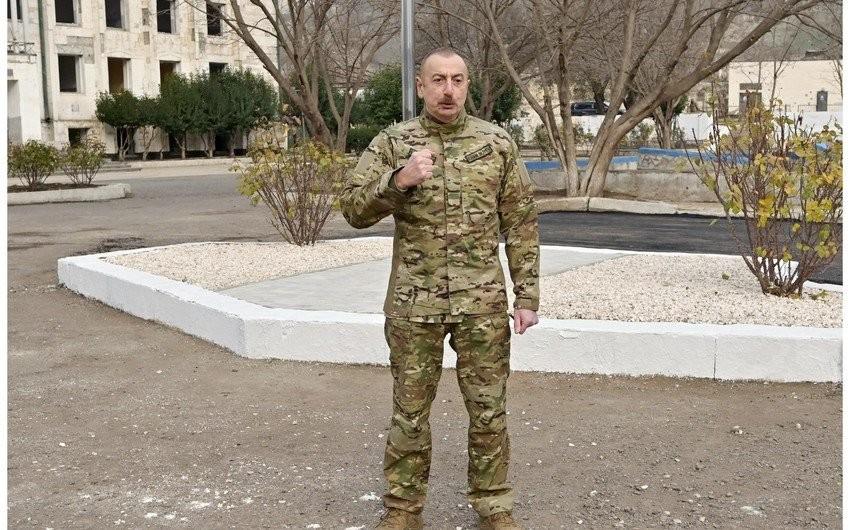 """Bir qrup hərbçi """"Zəngilanın azad olunmasına görə"""" medalı ilə təltif olunub"""