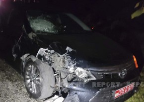 UN official car involved in crash in Gakh, injuring two