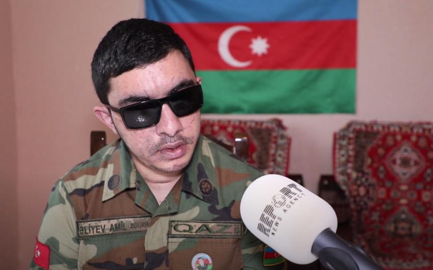 Qarabağ qazisi: Ermənilərin postuna az qalmış minaya düşdük