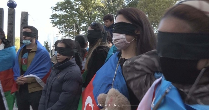 Azerbaijani youth holds protest rally in New York