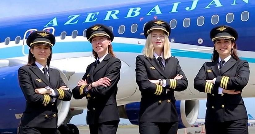 Первые женщины-пилоты AZAL