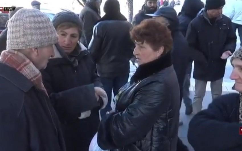 Yerevanda küçə alverçiləri etiraz aksiyası keçiriblər