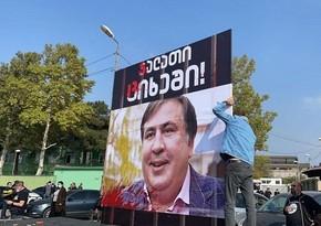 Gürcüstanda Saakaşvilinin əleyhdarları mitinq keçirir
