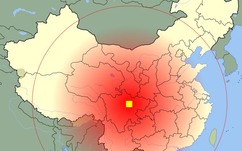 Çində 5,1 bal gücündə zəlzələ baş verib