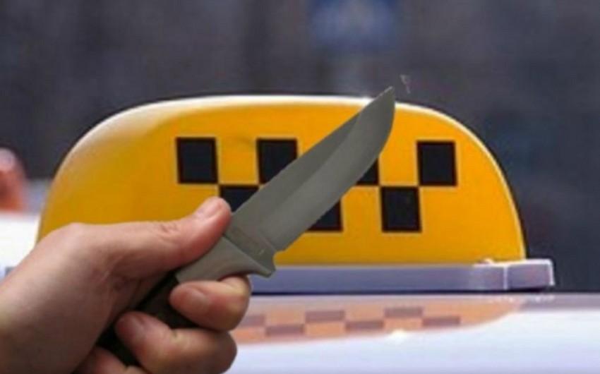 Şəmkirdə taksi sürücüsü bıçaqlanıb, onun telefonu və pulu əlindən alınıb