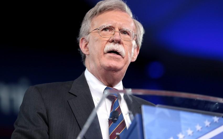 Con Bolton: Biz İrana qarşı sanksiyaları hələ indi başlayırıq