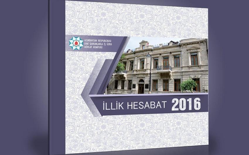Dövlət Komitəsinin ötənilki fəaliyyətinin yekunlarına həsr olunan hesabat çap olunub