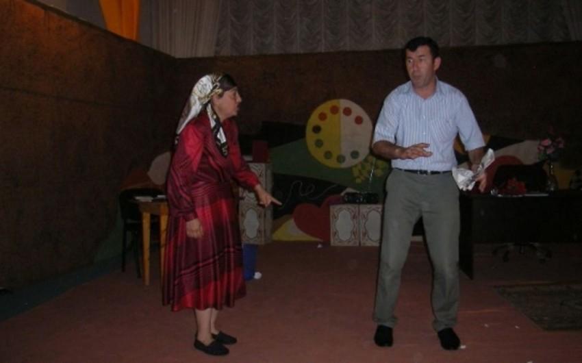 """Füzuli Teatrında Həmyerlilər"""" tamaşası nümayiş etdirilib"""