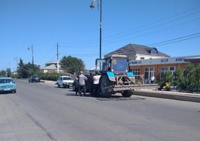 В Джалилабаде столкнулись трактор и легковой автомобиль