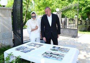 President Ilham Aliyev visits Albanian Church of Blessed Virgin Mary in Nij settlement, Gabala